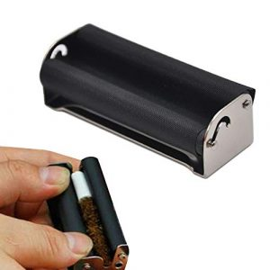 LIMITA Machine à rouleaux commune Taille 70mm Émousser Cigarette à rouler rapide (noir)