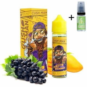 E Liquide Nasty Juice Cush Man Mango Grape 50ml – 70vg 30pg – booster shortfill – Sans nicotine + Liquide The Boat 10ml Citron et citron vert – Sans nicotine et sans tabac.
