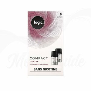 2x Capsules Cerise Logic COMPACT 0 mg 2 x 1,7 ml – Sans Tabac ni Nicotine