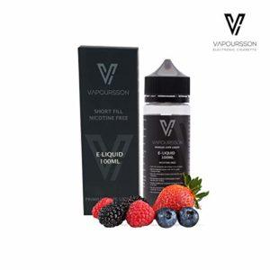 Vapoursson 100ml Berry Mix 0mg E-liquide | Bouteilles Shortfill sans nicotine | 50/50 PG/VG – Forte saveurs réelles | Eliquide Pour E-shisha et E-cigarettes