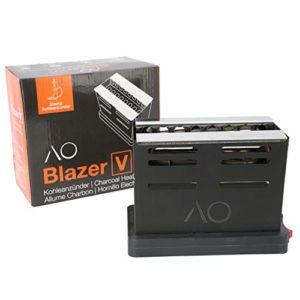 AO® BLAZER Allume Charbon Chicha | L'allume-charbon en forme de grille-pain ! | Grille inclue | Plaque charbon Super Rapide 800W !