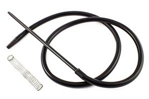 Crochet pour narguilé à chicha – Comprend un ressort et une buse en matériaux nobles aux finitions exceptionnelles… (noir)