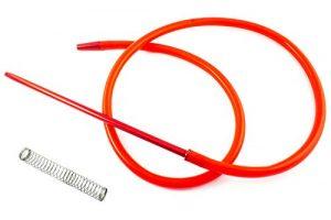 Crochet pour narguilé à chicha – Comprend un ressort et une buse en matériaux nobles aux finitions exceptionnelles… (rouge)