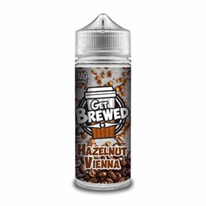 Get Brewed E-Liquide par Ultimate Puff Coffee Frappe Cold Brew Vape jus 100ml Shortfill Eliquid | 0mg sans nicotine 0%| 70% VG 30% PG Liquide VG Sub Ohm Vape + Royal Vapery Band