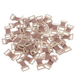 Healifty Les pinces élastiques de bandage attachent des agrafes en métal pour différents types de bandages 50pcs