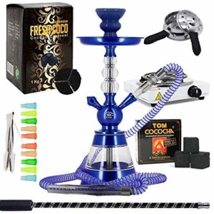 HND Pack Chicha Altair 3BL Plus + Tuyau Marrakech + Foyer Silicone + Chauffe-Charbon + Plaque + Charbons