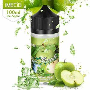 IMECIG 100 ml Vape Liquide Glace Pomme Premium Ecig Vape Jus 70/30 E Liquide pour Toutes les Cigarettes Electroniques Vape Mod Vape Kits de Démarrage Eliquid sans nicotine