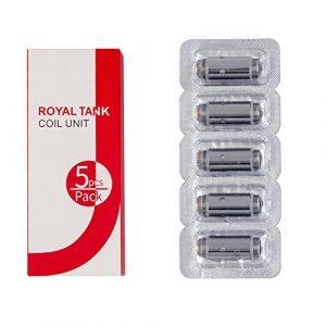 JOMO TECH Royal 30 Résistance 0.6 oHm Cigarette électronique, La Bobine d'Atomiseur [5 Pièces] Replacement Coils