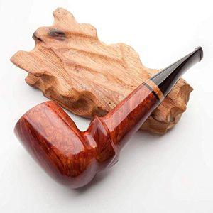 LBSX Tabac à Pipe à la Main en Bois d'ébène Racine Pipe Cadeau Vintage à Angle Droit en Bois Massif Pipe du Tabac