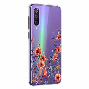 Oihxse Mandala Motif Case Compatible pour Samsung Galaxy S20 Ultra 5G Coque Transparente Silicone TPU Souple Protection Etui Ultra Slim Mehndi Floral Datura Dentelle Housse Bumper (A12)