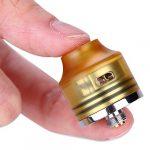 OUMIER WASP NANO RDA Atomiseur Réglable Airflow Goupille Inférieure pour Squonk Style MOD No Nicotine, No E Liquide (Noir)