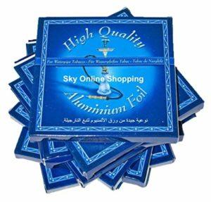 SOS Lot de 50 feuilles d'aluminium AL Fakher pour narguilé en céramique, nargila, narguilé et narguilé