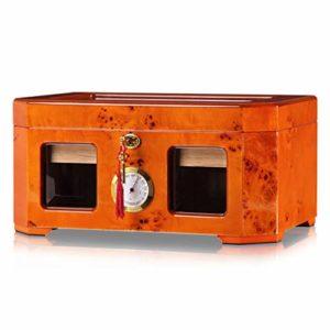 Sweet Cigares Humidificateurs, Boîte À Cigares, Porte-Cigares en Bois, Deux Perspective des Zones De Stockage Externe Cabinet Hygromètre