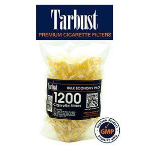 TarBust Filtres a cigarettes jetables, Pack économique en vrac, 8mm, 1200 par pack | Anti nicotine, anti goudron filtres
