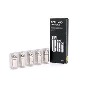 Vaporesso Paquet de 5 0.6ohm C Cell-GD Tête de bobine en céramique pour réservoir Guardian / Cible Mini Atomiseur C CELL Replacement de bobine