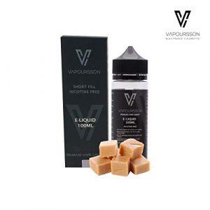 Vapoursson 100ml Caramel au beurre 0mg E-liquide | Bouteilles Shortfill sans nicotine | 50/50 PG/VG – Forte saveurs réelles | Eliquide Pour E-shisha et E-cigarettes