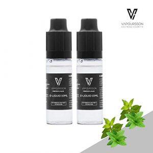 VAPOURSSON 2 X 10ml E-Liquide | Menthe Double | 2 Pack Nouvelle Formule Pour créer une Saveur Super forte avec uniquement des Ingrédients à Teneur élevée | Pas de nicotine ou de tabac
