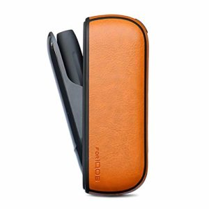 Zantec Accessoires pour Cigarettes électroniques étui de Protection Anti-caduta Ultra Fine avec étui en Cuir iqos3.0 Jaune
