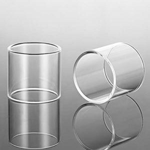 2pcs / lot remplacement de verre Tube en verre transparent for tfv8 TFV12 prince grand bébé RBA x-bébé stylo vape 22 VOOPOO UForce T2 ,Sans tabac ni nicotine ( Couleur : For TFV12 prince baby )