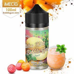 IMECIG 100 ml Vape Liquide Melon Glace Bubblegum Premium Jus Vape 70/30 E liquide pour cigarettes Cigarettes E short-Fill pour kits de démarrage Vape Sans Nicotine Ni Tabac