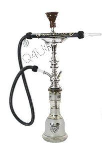 KM Khalil Mamoon Shisha Hookah Genuine Egyptian sheesha pipe Cafe Style With 175CM Hose Washable (Black)