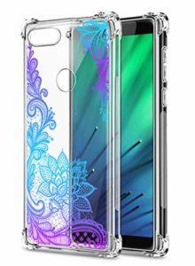 Suhctup Coque Comaptible avec Xiaomi Mi 9 Lite Étui Houssee,Transparent Motif Fleur [Antichoc Protection des Coins] Crystal Souple Silicone TPU Bumper Case Cover pour Mi 9 Lite,A8