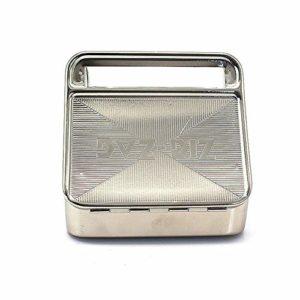 WLQNAME Tabac automatique Cigarette Smoking Rouleuse Case Box Tin (Couleur : Argent)