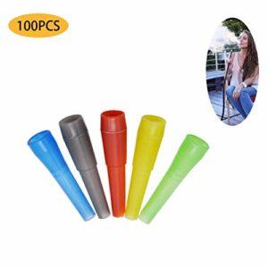 DowoaEmbouts buccaux jetables pour narguilé, 100 pièces d'embouts en Plastique pour Chicha Embouchures d'hygiène pour Chicha Accessoires jetables sans BPA