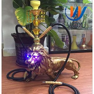 Narguilé 55cm Grand Lion LED Shisha Lumière Set Animal Shisha Chicha Narghile Bar Fournitures-Blue