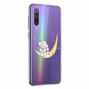 Oihxse Compatible pour Silicone Realme X2 Coque Crystal Transparente TPU Ultra Fine Souple Housse avec Motif [Elephant Lapin] Anti-Rayures Protection Etui (A7)