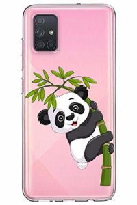 Oihxse Silicone Crystal Coque pour Samsung Galaxy J8 2018/ON8 Ultra-Thin Transparente Gel TPU Souple Etui Design Motif Mignon Panda Protection Antichoc Housse Bumper (Panda A3)