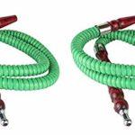 Paide 051-2 Pack Narguile Shisha Premium 25cm (vert)