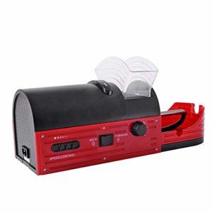 Rouge Mini Cigarette Électrique Tamponneuse Cigarette Tabac Roulant Automatique Roller Maker Machine, est pour Père
