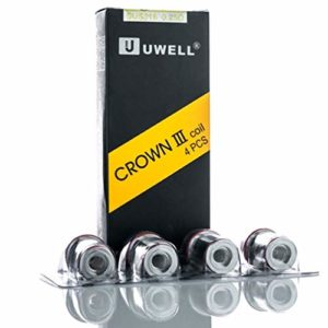 uwell crown Oubbi Lot de 4 bobines 3 Coils 0,25/0,4 Ohm 0,25 ohm