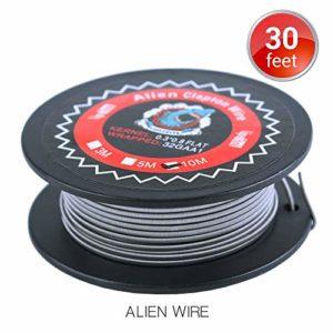 30 Feet Vapethink Alien Clapton Wire, Fil de Chauffage Résistance Wire AWG(0.3×0.8mm Flat + 32GA),10 Mètre