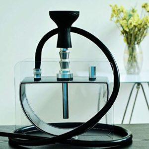 Acrylique shisha LED narguilé ensemble, Big Smoke narguilé Pot 1/2 tuyau fumer ensemble Ktv, bar, fête, narguilé Pot narguilé Kit accessoire-D