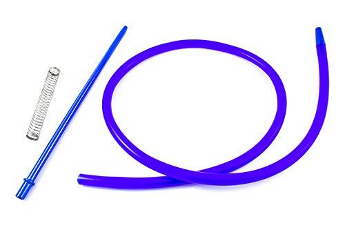 Crochet pour narguilé à chicha – Comprend un ressort et une buse en matériaux nobles aux finitions exceptionnelles… (bleu)