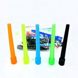 Embouts de narguilé, embouts de bouche en plastique sans BPA jetables, accessoires de bouche de tuyau de narguilé emballés individuellement, connexion, épais, propre, sanitaire, long, coloré 100PC
