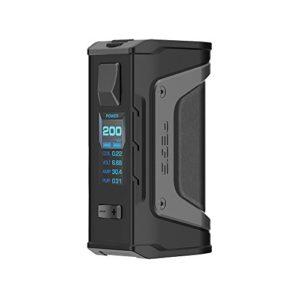 GeekVape Aegis Legend 200 W TC Box MOD Construit avec six matériaux supportant la charge directe et la mise à jour du micrologiciel sans e-liquide, sans nicotine