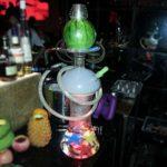 Hookah Shisha Set, Set complet Set en verre narguilé, grande bouteille Bas narguilé avec raccord de tuyau et lumière LED colorée, Convient pour les familles, les restaurants étrangers, bars, clubs