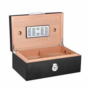 Humidificateur De Bureau Avec Plateau Et Séparateur Ajustable, Humidificateur Et Rectangle, Pour 50 à 80 Cigares