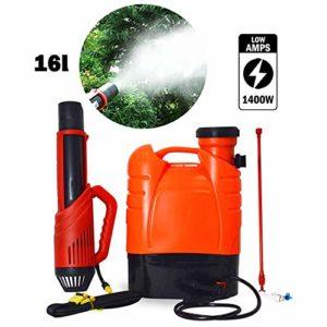 LP-LLL Pulvérisateur électrique ULV – Pulvérisateur électrostatique Nano de désinfection de Batterie au Lithium 16L Portable à Dos ULV Fogger pour dans Les hôtels, centres commerciaux, Maisons