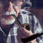 ZXCVB Bois Massif à la Main en Bois fumant Tube Porte-Cigarette rétro-Fashioned Pipe Portable Narguilé Set Fumeurs (Color : A)