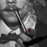 ZXCVB Bois Massif à la Main en Bois fumant Tube Porte-Cigarette rétro-Fashioned Pipe Portable Narguilé Set Fumeurs (Color : D)