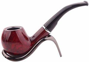 ZXCVB Les Hommes fument Tubes résine de santé filtres Pipe Porte-Cigarettes Portable Démontez Set Shisha Fumeurs (Color : Red)