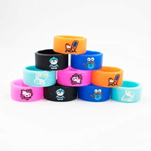 10 PCS Silicone Ring Vape Anti Slip Rubber Band, 10 * 24mm Mixed Rings – for RBA RDA Tank Mechanical Mods, Random Design and Color with a Exquisite Transparent Box