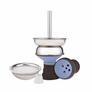 ADMY® narguilé acier inoxydable suie tamis charbon charbon cheminée foyer en argile de haute qualité et veste | Structure de crosse confortable (vert)