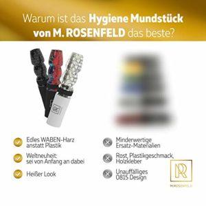 Embout hygiénique pour narguilé de qualité supérieure – Fabriqué à la main en résine alvéolée rare, embouchure hygiénique personnelle à emporter dans un sac en tissu