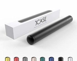 JCASE Coque de Protection en Aluminium étanche pour Cigarettes – 11 cm – Étanche – en métal Noir