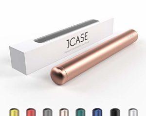 JCASE Coque de Protection en Aluminium étanche pour Cigarettes – 11 cm – Étanche – en métal Rose